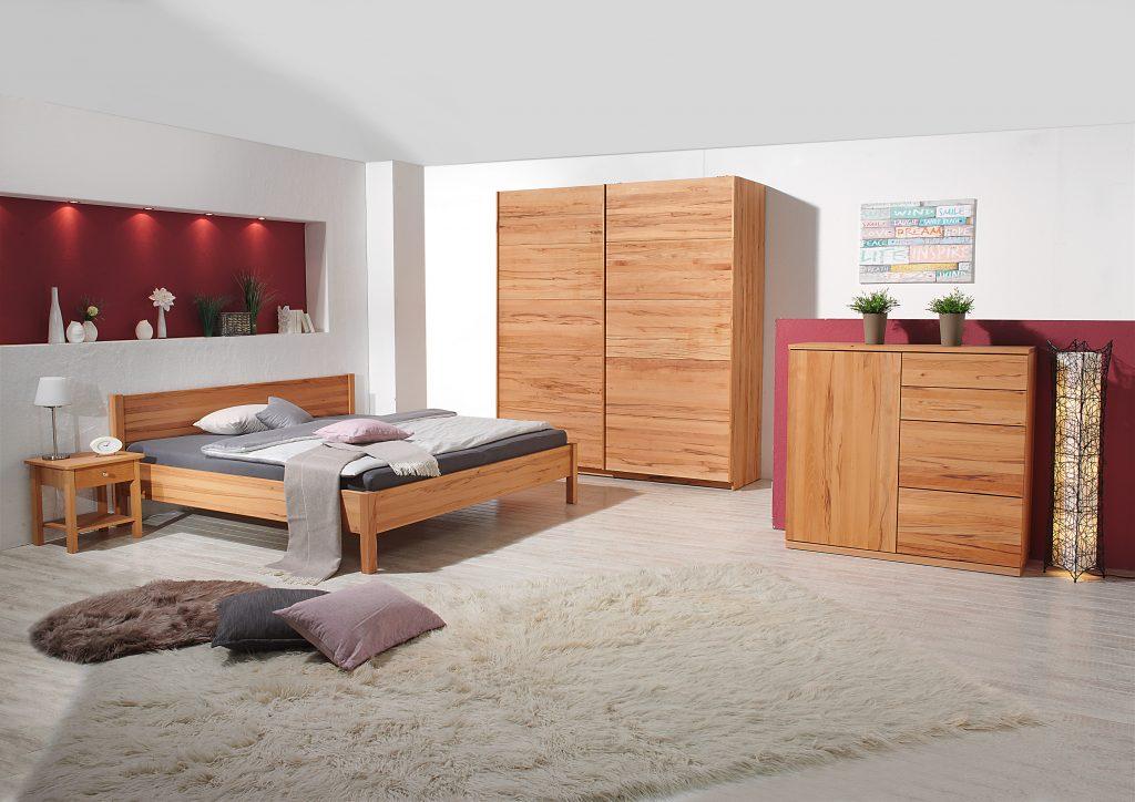 Doppelbett Diogenes aus Massivholz in Kernbuche von Betten Impulse in Bad Aibling
