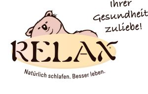 Slogan 2018 - RELAX Natürlich schlafen. Besser leben. Ihrer Gesundheit zuliebe!