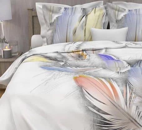 Lane Baumwolldruck Bettwäsche mit Federn