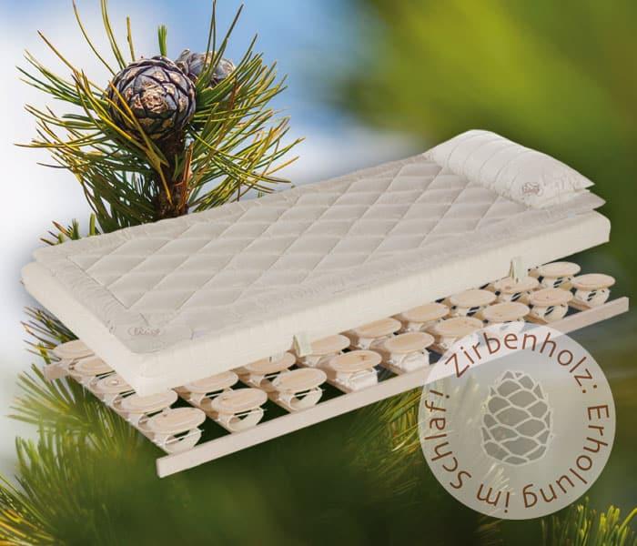 Relax Bettsystem mit Zirbenholz Tellerlattenrost