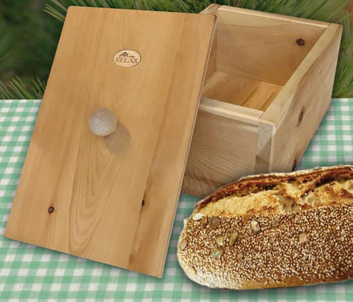Zirbenholz-Brotkiste