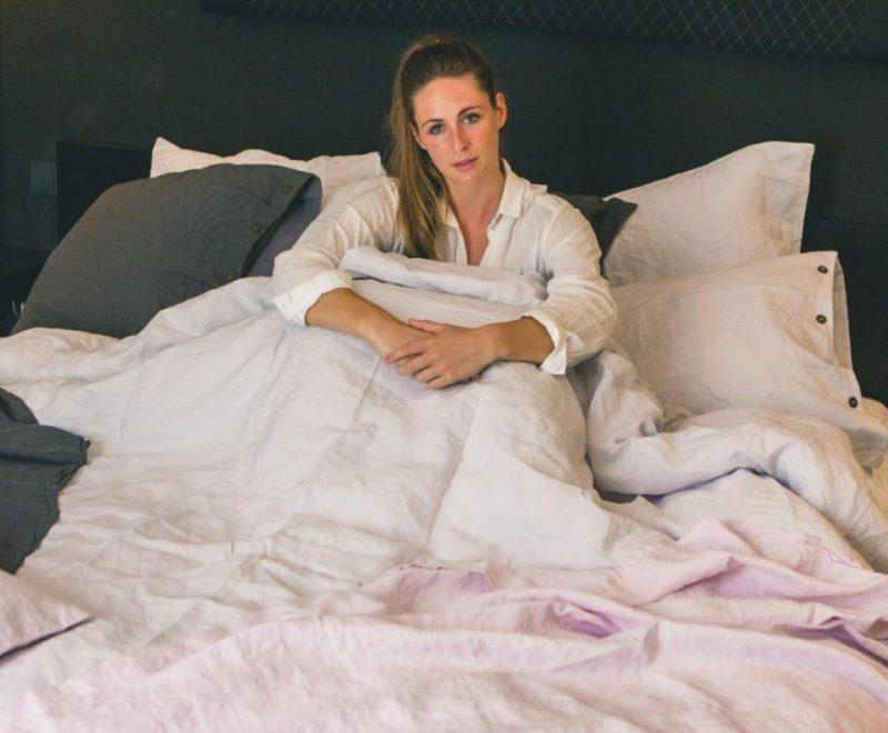 Bettwäsche in reiner Baumwolle und Leinen