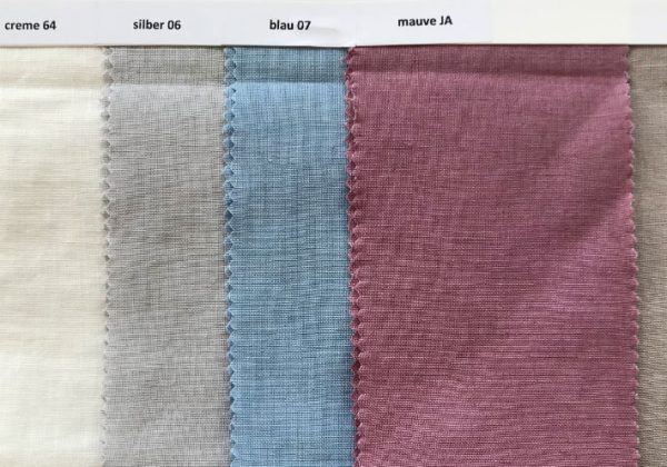 Farbauswahl für die Leinenbettwäsche